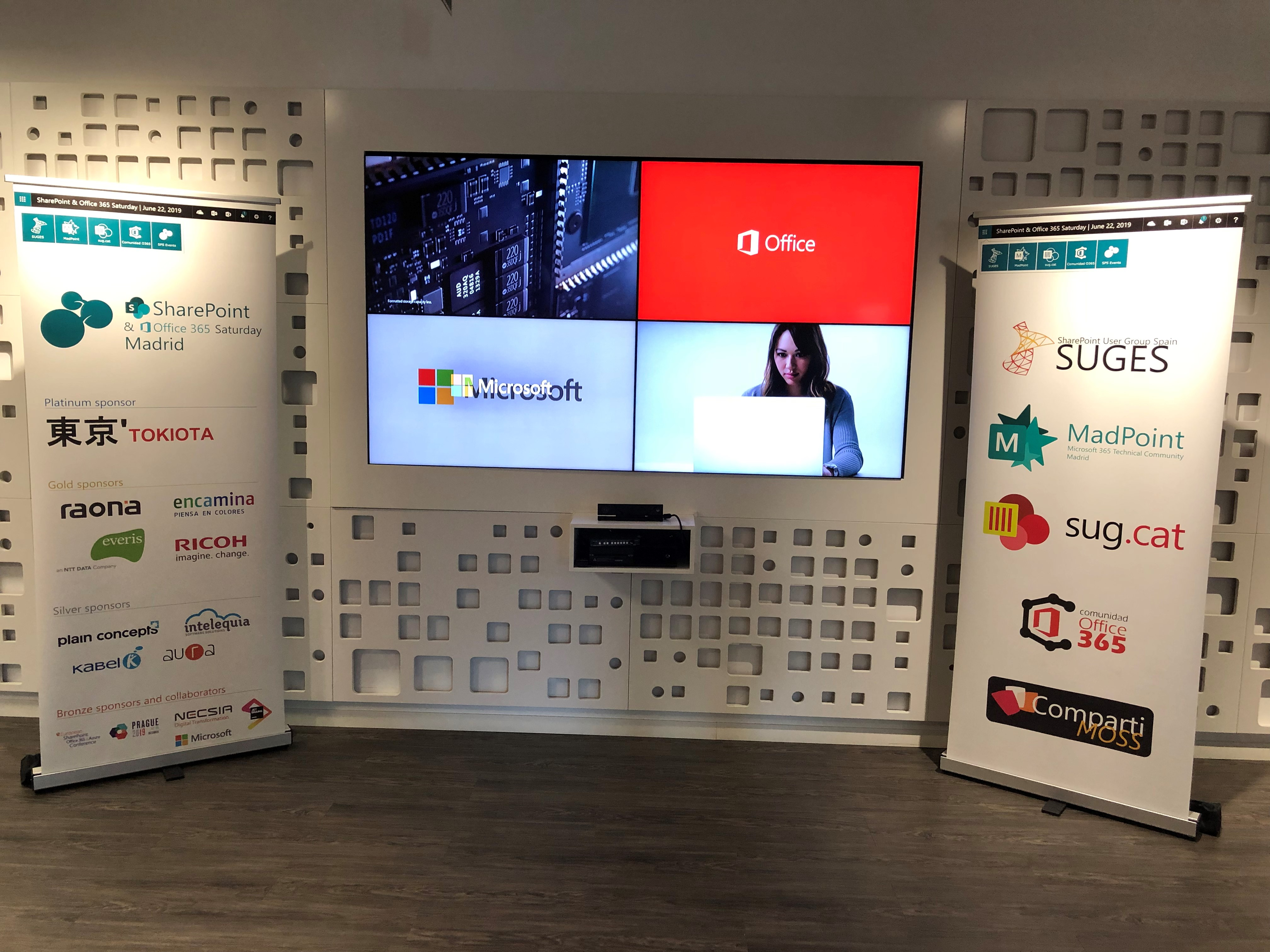 Presentaciones del equipo de coordinación de MadPoint en SharePoint and Office 365 Saturday Madrid 2019